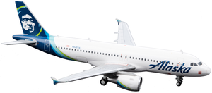 Alaska Airlines Model 1/200 Scale A320 Standard Livery