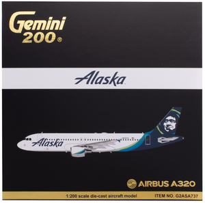 Alaska Airlines Airbus A320 New Livery 1/200 Model