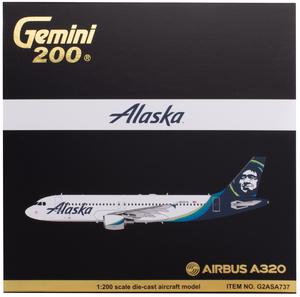 Alaska Airlines Model 1/200 scale Gemini A320 Standard Livery