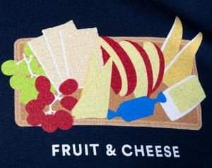 Unisex T-Shirt Short Sleeve Fruit & Cheese