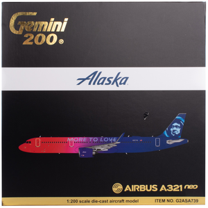 Alaska Airlines Airbus A321 Neo More to Love 1/200 Model