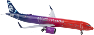 Alaska Airlines Model 1/200 scale Gemini A321 Neo More to Love