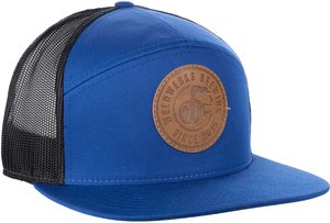 7 Panel Leather Patch Hat