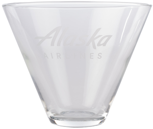 Alaska Airlines Stemless Martini Glass 13.5 oz