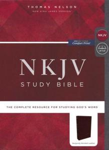 NKJV Study Bible Comfort Print Bonded Leather