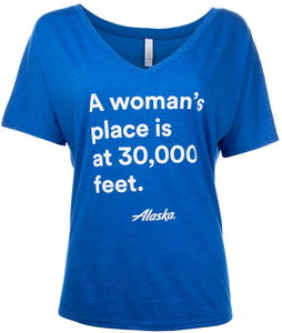 Women's Alaska Airlines A Woman's Place T-Shirt