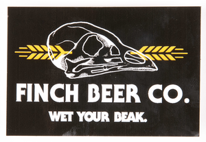 Finch Beer Co. Rectangle Sticker