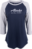 Alaska Airlines T-shirt Ladies Champion Baseball  image 1