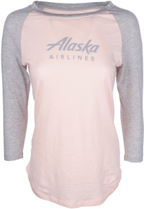 Alaska Airlines T-shirt Ladies Champion Baseball