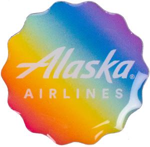 Alaska Airlines Pride Lapel Pin