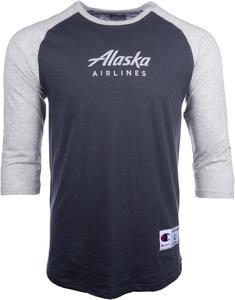 Alaska Airlines T-shirt Mens Champion Baseball