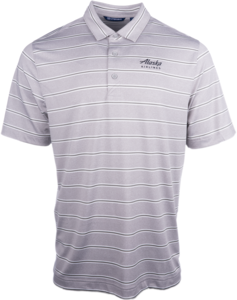 Men's Cutter and Buck Heather Stripe Polo