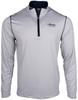 Alaska Airlines Sweatshirt Mens Cutter and Buck Meridian Striped 1/2 Zip image 1