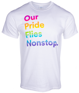 Unisex T-Shirt Short Sleeve Alaska Airlines Pride
