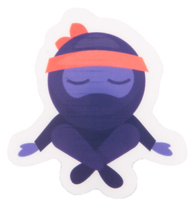 Meditating Ninja Sticker