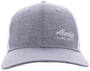 Alaska Airlines Cap AHead Grey Mesh