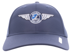 Alaska Airlines Cap Ahead Mesh Wing Cap Fitted