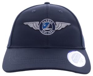 Alaska Airlines Cap Ahead Mesh Wing Cap Fitted