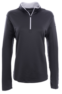 Alaska Airlines Sweatshirt Ladies Nike Golf Dri-FIT Stretch 1/2 Zip Cover-Up