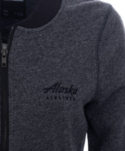 Alaska Airlines Jacket Ladies New Era French Terry Baseball Full Zip
