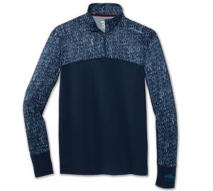Alaska Airlines Sweatshirt Mens Brooks Dash 1/2 Zip