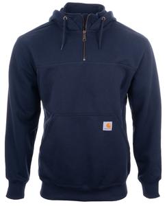 Alaska Airlines Sweatshirt Mens CarharttRain Defender Paxton Heavyweight Hooded 1/2 Zip