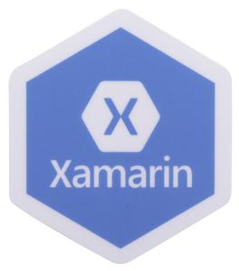 """2""""H x 1.73""""W Xamarin Sticker -  .NET Conf 2019"""
