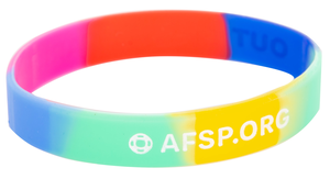 Multi-Color Out of the Darkness Wristband (Pack of 10)