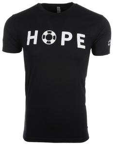 Unisex Black HOPE Crewneck with White Lettering