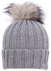 Alaska Airlines Beanie Knit Grey with Pom image 1