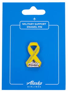 "Alaska Airlines Pin ""Support Our Troops"" Ribbon"