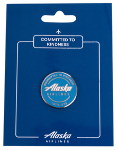 "Alaska Airlines ""Committed to Kindness"" Pin"
