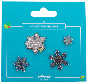 Alaska Airlines Holiday Pin Pack