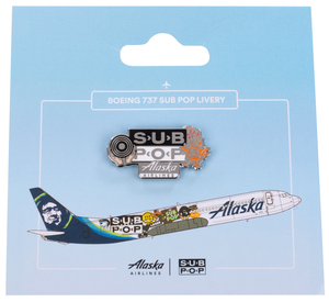 Alaska Airlines Pin Sub Pop