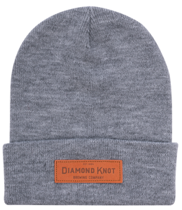 Diamond Knot Heathered Knit Beanie