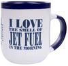 Alaska Airlines Mug I Love the Smell of Jet Fuel  image 1