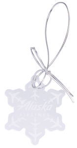 Alaska Airlines Acrylic Snowflake Ornament