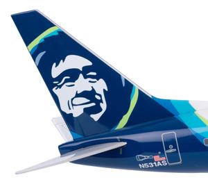 Alaska Airlines Model 1/130 scale Skymarks 737-800 Captain Marvel