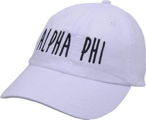 Jagged Font Hat - alpha phi