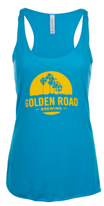 Womens Iconic Blue w/Logo Tank Top