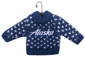 Alaska Airlines Sweater Ornament