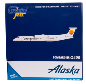 Alaska Airlines Model 1/400 scale Gemini Q400 Horizon Air Retro (Meatball) Livery