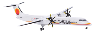 Alaska Airlines Model 1/400 scale Gemini Q400 Horizon Air Retro (Meatball) Livery