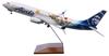 Alaska Airlines Model 1/100 scale Skymarks Supreme 737-800 Toy Story image 1