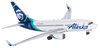 Alaska Airlines Model 1/400 scale Gemini 737-700 Standard Livery image 1