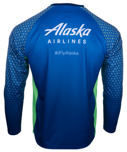 Alaska Airlines Running Shirt Long Sleeve Unisex