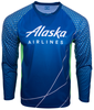 Alaska Airlines Running Shirt Long Sleeve Unisex image 1
