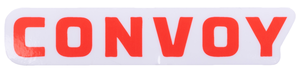 "Convoy 4"" x 0.8"" Logo Sticker"