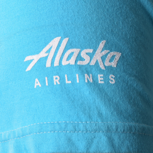 Alaska Airlines T-shirt Unisex Destination Los Angeles