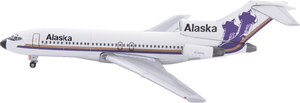 Alaska Airlines Model 1/400 scale Gemini 727-100 Russian Dome